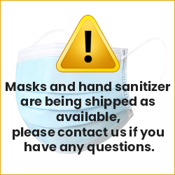 Masks and hand  sanitizer